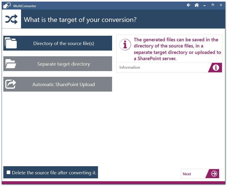 A variety of options allows you to fine-tune your conversion results and decide what happens to the converted files.